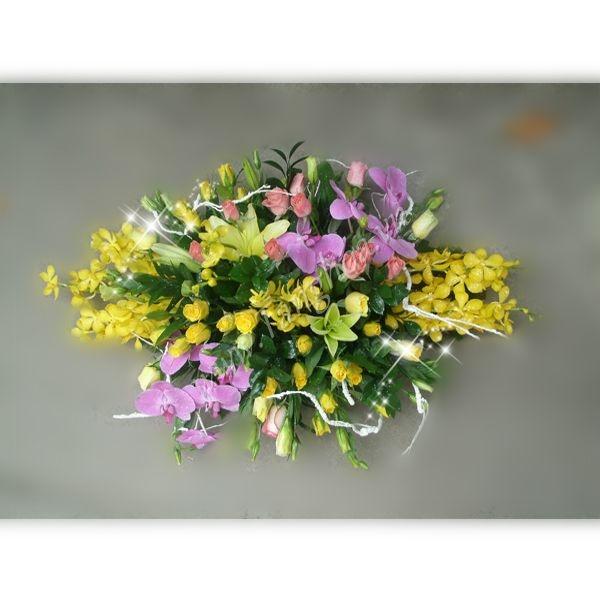 Mẫu hoa tươi tắn và rực rỡ